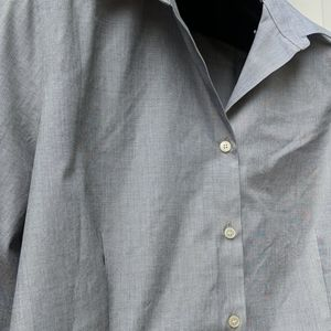 Talbots Tops - TALBOTS Gray Career Button Up 3/4 Sleeve Plus 16